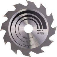 Cirkelzaagblad Optiline Wood, 190 x 30 x 2,6 mm, 60 Bosch 2608641188 Diameter:190 x 30 mm Dikte:2.6