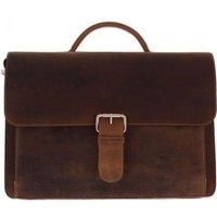 Plevier-Laptoptassen-Darwin Leren Old School Bag-Bruin
