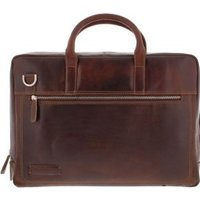Plevier Vintage leer Laptoptas 15.6 dark brown