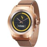 MyKronoz ZeTime hybrid smartwatch elite milanees 44mm goud-roze