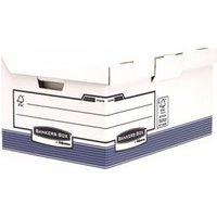 Bankers box system, opbergdoos flip top maxi, blauw