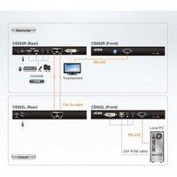 Aten DVI KVM Extender Dual Link 60Meter. 2560 x 1600 . RS232 . Speaker & Mi (CE602)