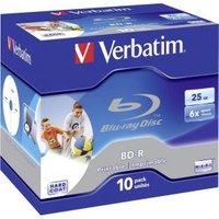 1x10 BD-R Blu-Ray 25GB 6x Speed printable Jewel Case