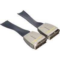 Platte SCART Audio Video Kabel 5.0 m