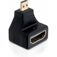 DeLOCK High Speed HDMI w Eth. mirco D male > A female angled (65270)