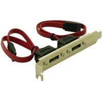 DeLOCK Slotbracket 2x internal SATA > 2x eSATA external (65116)