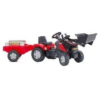 Case MXU115 Tractor met Lader en Aanhanger