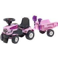 Falk Princess Pink Looptractor + Aanhanger 1+