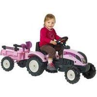 Falk Princess Tractor Pink + Aanhanger 2-5
