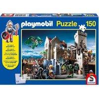 Schmidt Playmobil Gevecht om de koningsschat kinderpuzzel 150 stukjes.