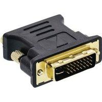 DVI VGA adapter DVI-I male VGA female 1 stuk grijs