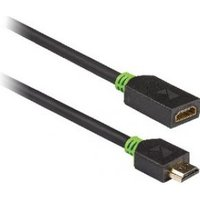 High Speed HDMI kabel met Ethernet HDMI connector HDMI ingang 2,00 m grijs
