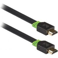 Platte High Speed HDMI kabel met Ethernet HDMI connector HDMI connector 2,00 m grijs