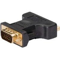 VGA DVI adapter VGA male DVI-I female 1 stuk grijs (KNC32901E)