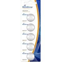 MediaRange Batterij Mediarange Knopfzelle Blister Lithium-CR2016 3V 5er (MRBAT136)