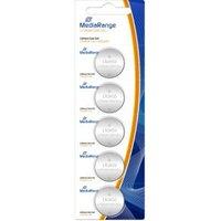 MediaRange Batterij Mediarange Knopfzelle Blister Lithium-CR2450 3V 5er (MRBAT138)