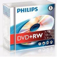DVD+RW 4.7GB 4x, 5 stuks
