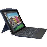 Logitech Slim Combo Smart Connector AZERTY Frans Blauw toetsenbord voor mobiel apparaat
