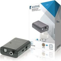 Digitale audio-converter S-PDIF female TosLink female donkergrijs -