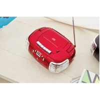 GPO Retro PCD299 3-in-1 Portable CD, Radio and Cassette Player Red