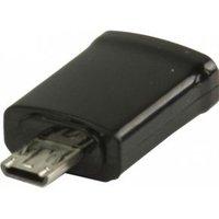 MHL-adapter USB 11-pins Micro B mannelijk USB 5-pins Micro B vrouwelijk zwart