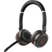 Jabra Evolve 75 UC Stereo Hoofdband Stereofonisch Bekabeld-Bluetooth Zwart, Rood mobielehoofdtelef