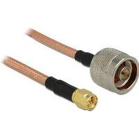 Delock WiFi-antenne Aansluitkabel [1x N-stekker 1x SMA-stekker] 1 m Transparant