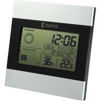 LCD-klok en weerstation