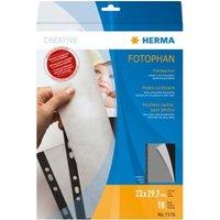 Fotokarton Herma 230x297 mm zwart 10 vel