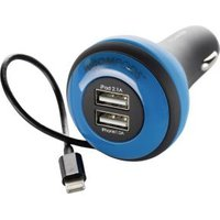 Boompods Car Chargers USB Carpod iPhone 5-5s-iPad-iPod, Blue