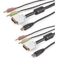 StarTech.com 1,80m 4-in-1 USB DVI KVM-Kabel met Audio en Microfoon