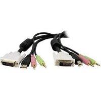 StarTech.com 3m 4-in-1 USB Dual-Link DVI-D KVM-switch Kabel met Audio en Microfoon