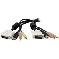 StarTech.com 4,50m 4-in-1 USB Dual-Link DVI-D KVM-switch Kabel met Audio en Microfoon