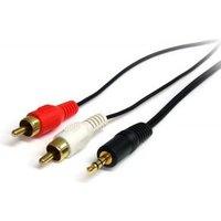 StarTech.com 90cm Stereo Audiokabel 3,5mm naar 2x RCA M-M