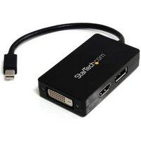 StarTech.com Mini DisplayPort-naar-DisplayPort-DVI-HDMI-adapter 3-in-1 mDP-converter