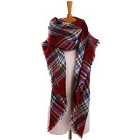 scarf plaid fringe scarf for women