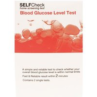 SelfCheck Blood Glucose Level Test - 2 Tests