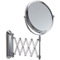 Extending Wall Chrome Mirror 5x Mag - Single