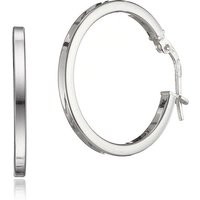 20mm Silver Hinged Hoop Earrings