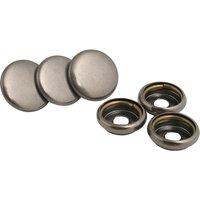 POLO 3x Oberknopf Metall silber Unisex