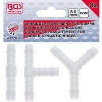 BGS Verbinder für Gummi- und Kunstoffschläuche 8mm 8-teilig
