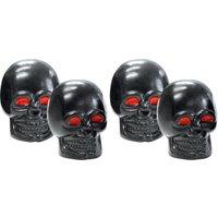 FOLIATEC Skull Ventilkappen mit roten Augen 4 Stück schwarz