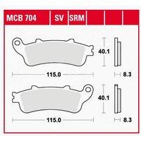 TRW Lucas Bremsbeläge organisch MCB704  115x40,1x8,3mm