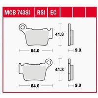 TRW Lucas Bremsbeläge organisch ECO MCB743EC 64x41,8x9mm