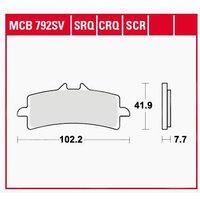 TRW Lucas Bremsbeläge Sintermetall MCB792SRT 102,2x41,9x7,7m