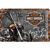 "Nostalgic-Art Blechschild 20 x 30 ""Harley-Davidson Favourite"