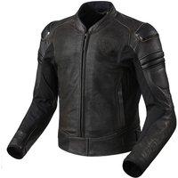 REV'IT! Akira Air Vintage Lederjacke schwarz Herren Größe 52
