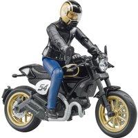 Bruder Scrambler Ducati Cafe Racer mit Fahrer