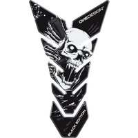 ONEDESIGN Tankpad CG Skull 6 schwarz/weiß