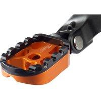 MFW Cross Grip Fußrastenpaar Alu ohne Adapter orange/silber